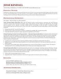 Personal Banker Resume 4