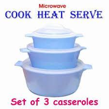 cooking accessories online. Modren Online Set Of Three Microwave Cook Heat And Serve Casser Intended Cooking Accessories Online O