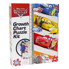 Disney 50 Piece Cars Growth Chart Puzzle Complete The Puzzle To Mark Your Height By Orange Onions Ship From Us