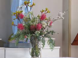 Church flowers, ceremony flowers, tall vase arrangement, Australian Native  flowers, kangaroo paw