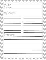 Full Page Recipe Templates Free Printable Full Page Recipe Templates Jaxos Co