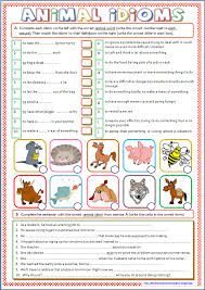 Idioms Worksheets For Middle School Free Worksheets Library ...