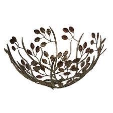 living  giving  leaf design metal fruit bowl