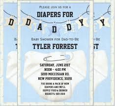 Diaper Shower Invitation Daddy Baby Shower Invitations Nevadanewmedia Org