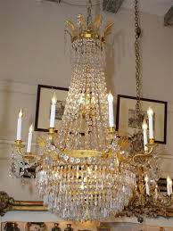 antique french empire ormulu and baccarat crystal chandelier for
