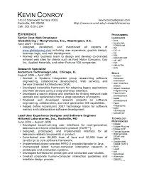 Senior Java Developer Resume Sample Resume Templates