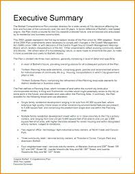 Business Executive Summary Template Doc Example Word Plan Format