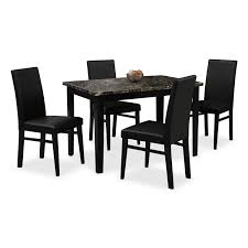 dining room furniture stores. Shadow Table And 4 Chairs - Black Dining Room Furniture Stores I