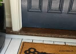 front door thresholdFront Door Threshold before  at Number 10