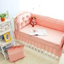 princess crib set lace pink princess bedding set baby cot cotton bed linen pillow sheet quilt princess crib set purple pink blue lace princess bedding