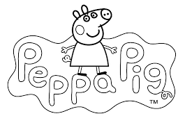 Small Picture LOGO to color PEPPA PIG cartoon Kids Pages for free coloring and