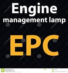 Epc Light On Car Dashboard Warning Dashboard Light Epc Dtc Code Engine Management Lamp