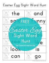 word easter egg easter egg sight word hunt with free printable