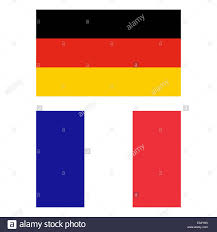 Le bandiere della Germania e della Francia Foto stock - Alamy