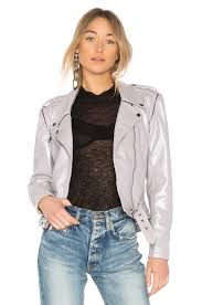 alyson eastman classic moto jacket with zip sleeve in lavender ngpjfq