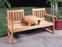 image of simple wood outdoor furniture