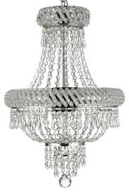 french empire crystal chandelier chandelier silver 22 x15 3 light