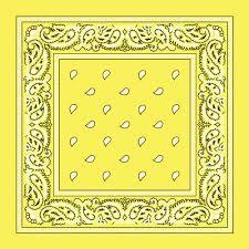 Light Yellow Bandana Classic Paisley Bandana 100 Cotton Bnsp0100 1540966976