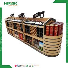 Display Stand Hs Code China Retail Shop Wine Liquor Store Wooden Metal Wine Bottle 41