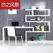 computer desk shelving unit exciting over