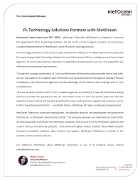PL Technology Solutions Partners with MetOcean