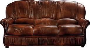 Leather Living Room Chair Monica Full Leather Leather Classic 3 Pcs Sets Living Room Furniture
