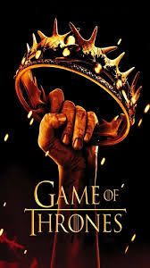 s game of thrones black yellow series poster crown fantasy drama george martin hbo hd iphone 6 plus wallpaper