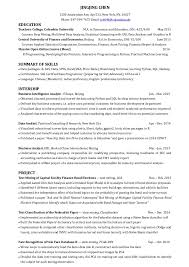 Skill Set Resume Template Beauteous Jingjing Chen ResumeData Analyst
