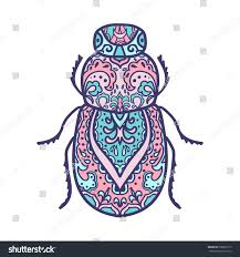 Small Picture Scarab Beetle Animals Hand Drawn Doodle Stock Vector 508007179