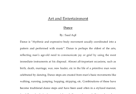 essays on dance is it okay to put a question in an essay how long  dance is rhythmic and expressive body movement usually document image preview