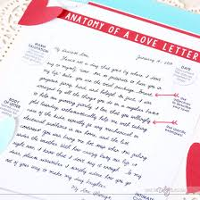 Anatomy of a Great Love Letter Romantic t for him