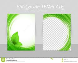 Green Brochure Template Flyer Template Back And Front Design Stock Vector Illustration Of