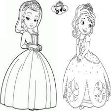 Luxe Coloriage De Princesse Sofia A Imprimer