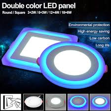 Double Color Led Panel Light Us 6 99 49 Off New Led Panel Downlight 5w 9w 16w 24w 3 Model Led Lamp Panel Light Double Color Led Ceiling Recessed Lights Indoor Lighting Bulb In