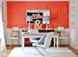 colorful office space interior design. Bold Accent Wall Small Office Space JL-Interior-Design-LLC. Colorful Interior Design M