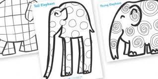 Elmer Patterns Colouring Sheets Art Lesson Plans Ideas For K 3