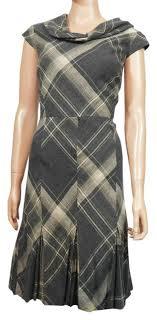 Antonio Melani Multicolor New Cowl Neck Plaid Short Work Office Dress Size 10 M 61 Off Retail