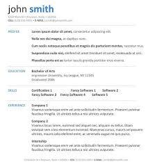 Cover Letter Modern Resume Formats Modern Resume Format Free