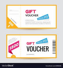 Gift Certificate Designer Simple And Clean Modern Gift Voucher Template