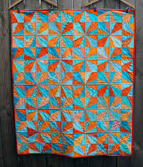Sun & Sea quilt finished | WOMBAT QUILTS & blue orange finished modern kids quilt Adamdwight.com