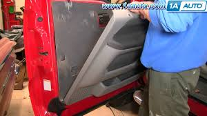 how to install replace remove door panel ford f250 f350 super duty 2004 ford f350 wiring harness at 2000 F350 Replacement Wiring Harness