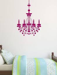 polyvinyl hanging chandelier wall decal