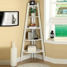 corner shelves furniture. Wonderful Shelves Corner Shelves Furniture White Cherry Black Storage Ladder Shape Bookcase  Bookshelf Display With