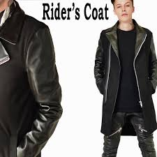 it is coordinates in riders coat leather coat long coat men wool coat jacket men
