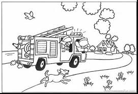 Small Picture A Terrific Fireman Coloring Pages With Firetruck Page And Fire
