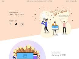 Social Media Postings January By Adam John Tan On Dribbble
