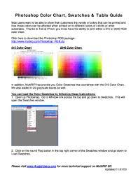 Photoshop Color Chart Fillable Online 510 Color Chart 2040 Color Chart Multirip