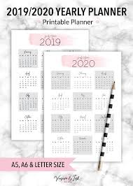At A Glance Yearly Calendars Yearly Calendar Printable Calendar 2019 Yearly Calendar