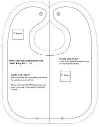 Adult Bib Pattern