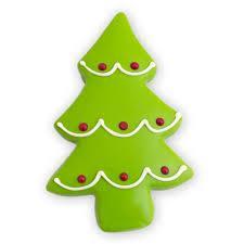 Sugar Cookie Tree Designs Christmas Tree Cutout Cookie Decorated Sugar Cookies By Merlino Baking Co 12 Pack